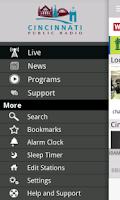 Screenshot of WVXU Public Radio App