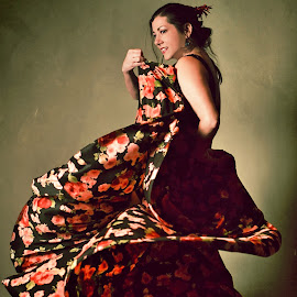 Flamenco Dancer by Alan Daly - People Musicians & Entertainers