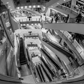 THE ABYSS by Michael Rey - Buildings & Architecture Other Interior ( interior design, shopping center, stairs, escalators, malaysia, architecture, kuala lumpur )