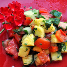 Pineapple Red Pepper and Cucumber Salad