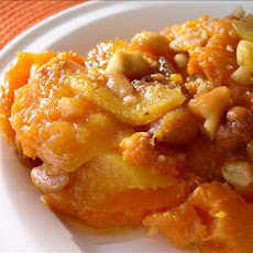 Holiday Sweet Potato, Peach and Cashew Bake/Casserole