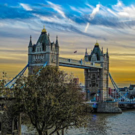Tower Bridge by Paulo Peres - Buildings & Architecture Bridges & Suspended Structures ( england, london, thames, sunset, monument, bridge,  )