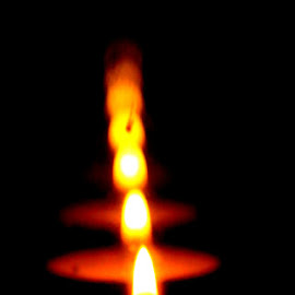 Candle by Terry Moffatt - Abstract Fire & Fireworks ( candle, reflection, fire )