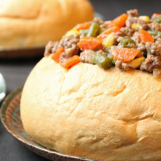 Bread Bowl Hamburger Stew
