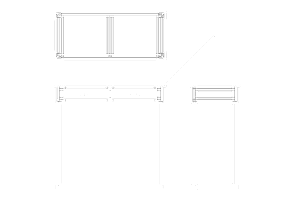 CAD Drawing of a Modern Console Table Design