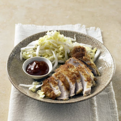 Panko-Crusted Pork Chops with Napa Salad