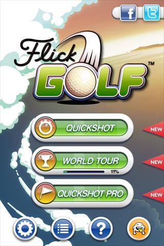 flick-golf for android screenshot