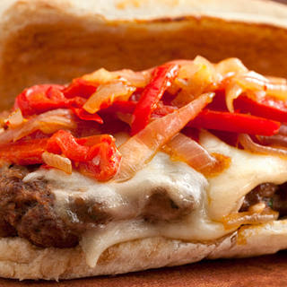 Italian Venison-Sausage Sandwiches with Peppers and Onions