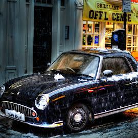 Small car by Piotr Owczarzak - Transportation Automobiles ( car, shoreditch, england, hdr, london, united kingdom, street photography )