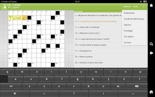 Screenshot of Crucidroid italian crosswords