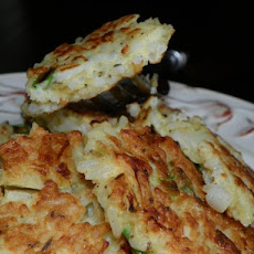 Savory Pancakes (From Cooked Rice)