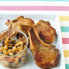 Pork Chops with Apple-Raisin Relish