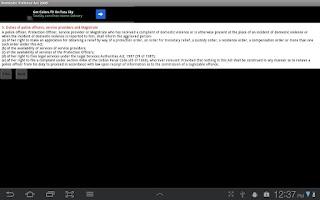 Screenshot of Domestic Violence Act 2005