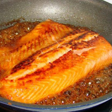Salmon With Bourbon and Brown Sugar Glaze