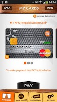 Screenshot of M1 Mobile Wallet
