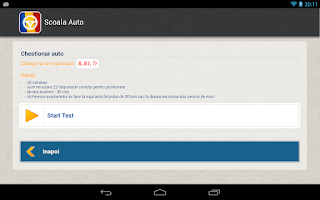 Screenshot of Scoala Auto - Chestionare Auto