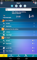 Screenshot of Jakarta Airport+Flight Tracker