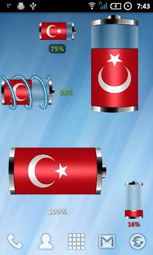 土耳其 - 國旗電池部件