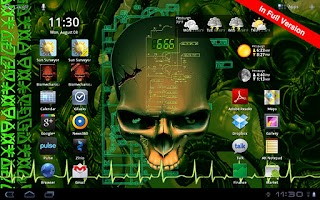 Screenshot of Biomechanical Skull Free LWP