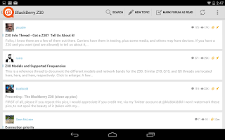 Screenshot of CrackBerry Forums
