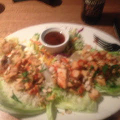 Lettuce wraps. Lots of chicken!!! Very good. A little spicy. I will ask for less sauce next time.