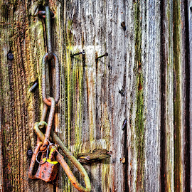Lock and Chain by Lou Plummer - Artistic Objects Industrial Objects