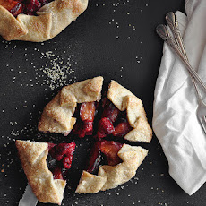Lemon Raspberry Plum Galettes