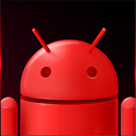 GO SMS Dark Red Theme icon