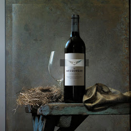 Still life IV by David Bishop - Digital Art Things ( wine, texture, still life, moody, surreal )