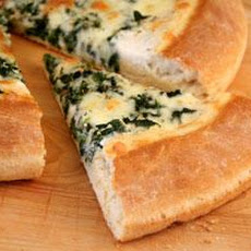 Parmesan Spinach Pizza