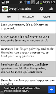 Group Discussion Tips - screenshot