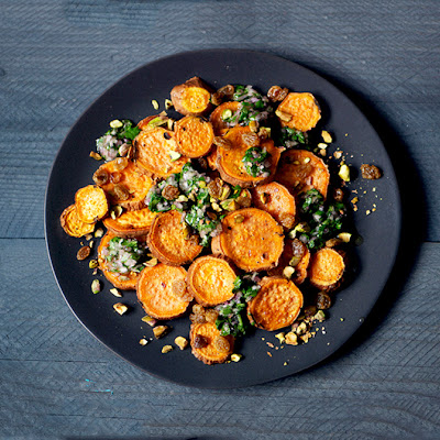 Roasted Yams with Citrus Salsa