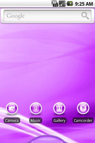 aHome Theme: Flow Purple