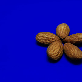 Almonds by Nitish Saini - Food & Drink Ingredients ( ingredients, eat., almonds, food, dry fruits,  )