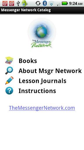 The Messenger Network Catalog