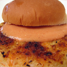 Potato Carrot Burger With Spiced Mayo