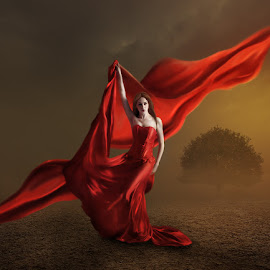 Red by Errys Wiskan - Digital Art People ( red, girl, digital imagine, fine arts, digital arts, composite, manipulation )