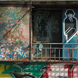 Harajuku House by Edd Rose - Buildings & Architecture Architectural Detail ( arthouse, color, graffiti, tokyo, harajuku )