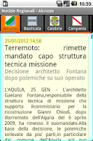 Screenshot of Notizie Regionali