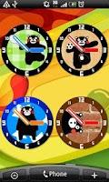 Screenshot of Analog clocks KUMAMON Free