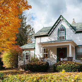 Great setting by Jack Brittain - Buildings & Architecture Homes ( old, canada, tree, autumn, ontario, architecture, house )