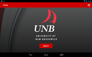 Screenshot of UNB