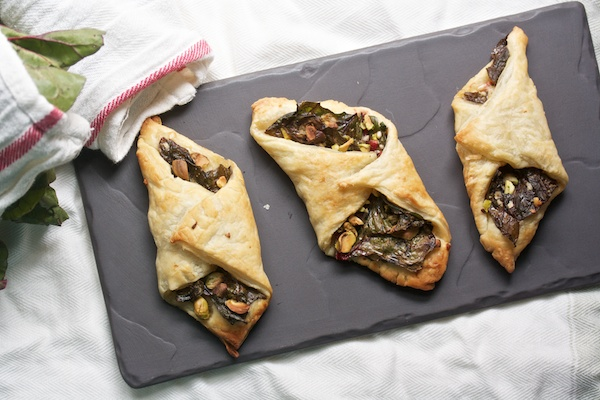 Swiss Chard Turnovers with Parmesan and Pistachios Recipe | Yummly