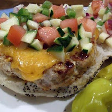 Simple Savory Turkey Burgers With Zucchini Relish