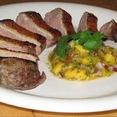 Marinated Duck Breast With Mango Salsa