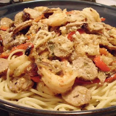 Paula's Shrimp and Sausage Pasta