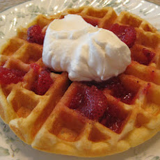 Tender Sour Cream Waffles