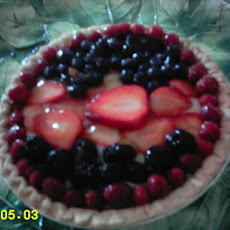 Fresh Berry Cardamom Cream Pie