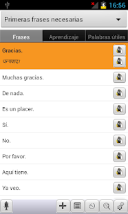 Spanish<->Hindi Phrasebook - screenshot