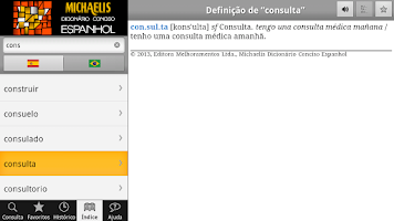 Screenshot of Michaelis Conciso Espanhol